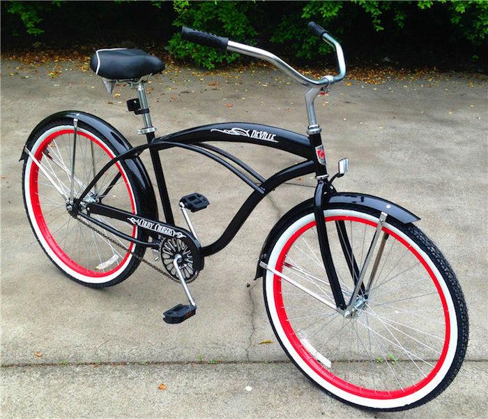 velo cruiser bike guidon larde style beach californie