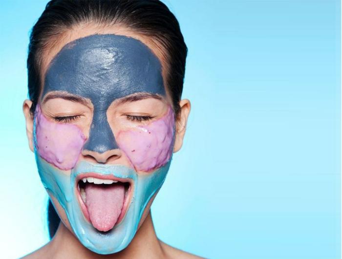 que faire quand on s ennuie avec une amie, masque de beauté, femme brune, masque de beauté maison, visage
