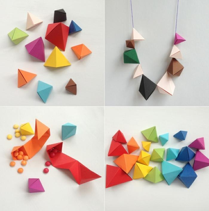comment faire des pyramides origami facile, que faire avec des