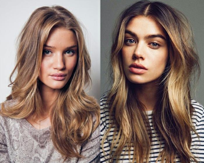 tendance capillaire cheveux bronde, comment réussir une coloration blonde sur brune clair