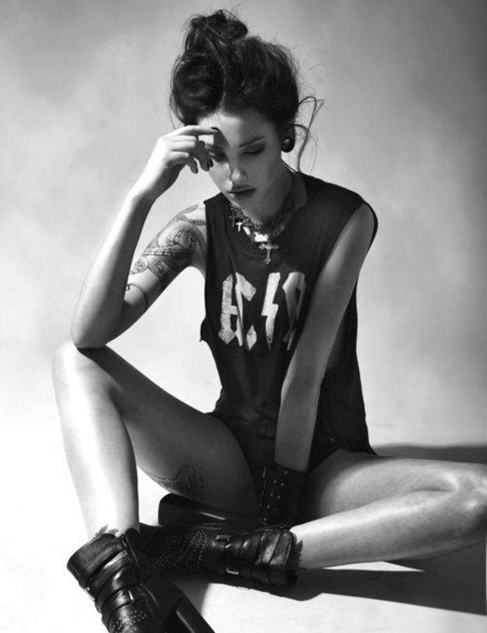 Tendance rock chic style vestimentaire rock n roll belle fille