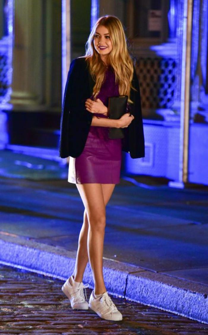Comment s habiller pour une soirée blanche tenue chic Gigi Hadid