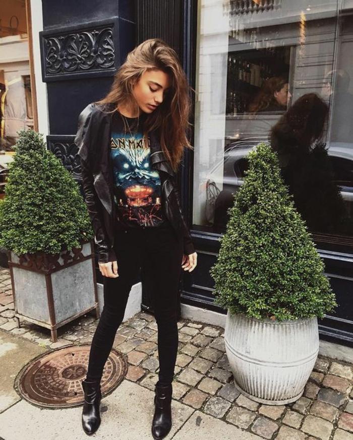 Look grunge femme vêtements rock femme
