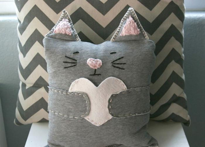 fabriquer coussins pour chats diy idée couture animaux