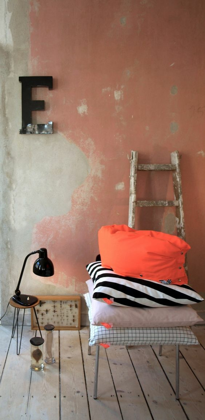 couleur corail peinture. Black Bedroom Furniture Sets. Home Design Ideas