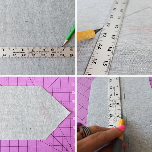 faire des boucles en tissu en découpant de petites bandes à l aide de couteau x acto pour isérer les cables, diy porte-cables, cadeau fete des peres