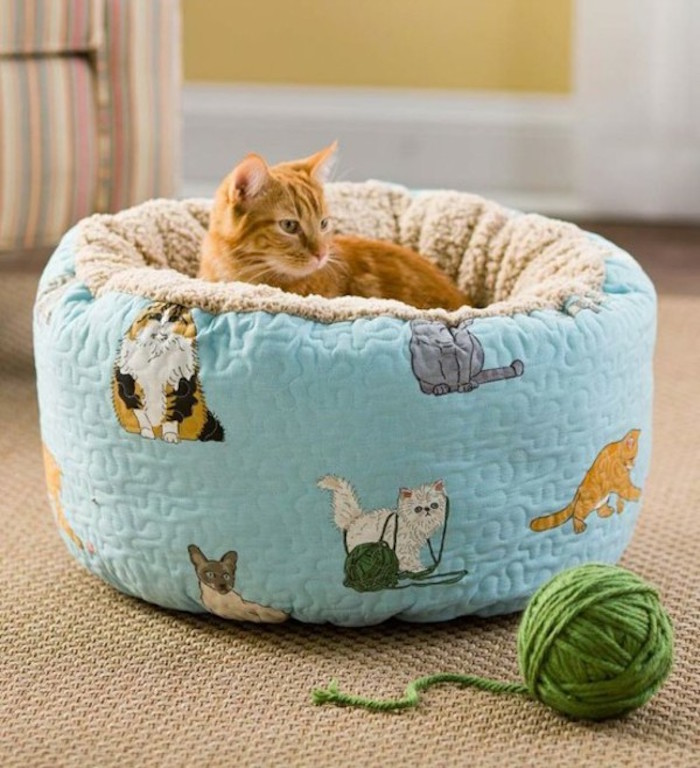 corbeille chat style couffin coussin mou déco