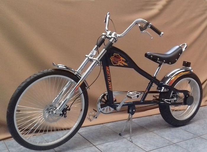americain chopper vélo custom long guidon harley davidson