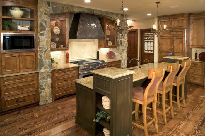cuisine équipée, plantes vertes, suspension luminaire, modele de cuisine, four électrique, cuisine intégrée