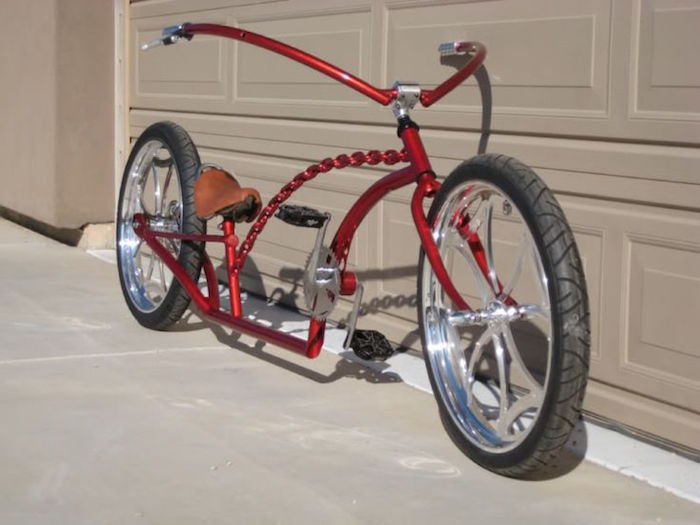 Vélo Custom Miroir Rond Noir//Blanc Dames Cruiser Lowrider chopper vélos