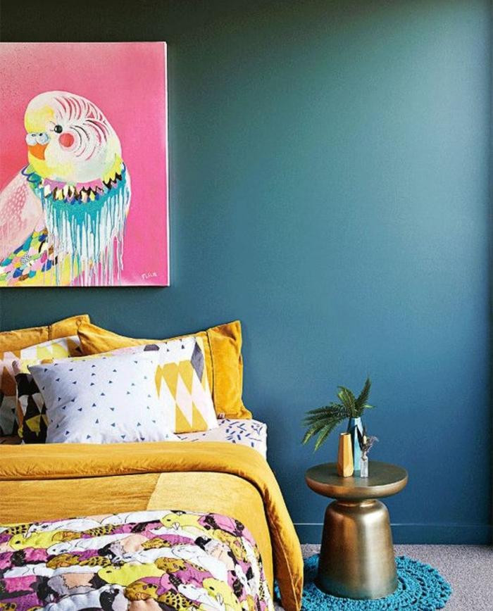 Chambre Bleu Et Jaune : Chambre bleu marine et blanc of jaune