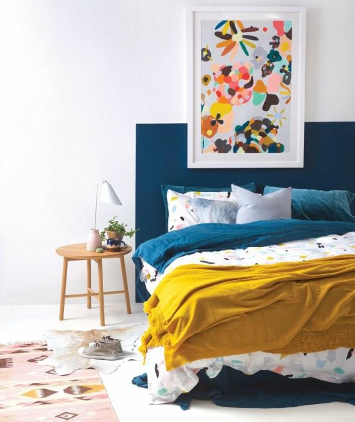 Chambre Bleu Et Jaune : Idées créer une déco en bleu et jaune conviviale