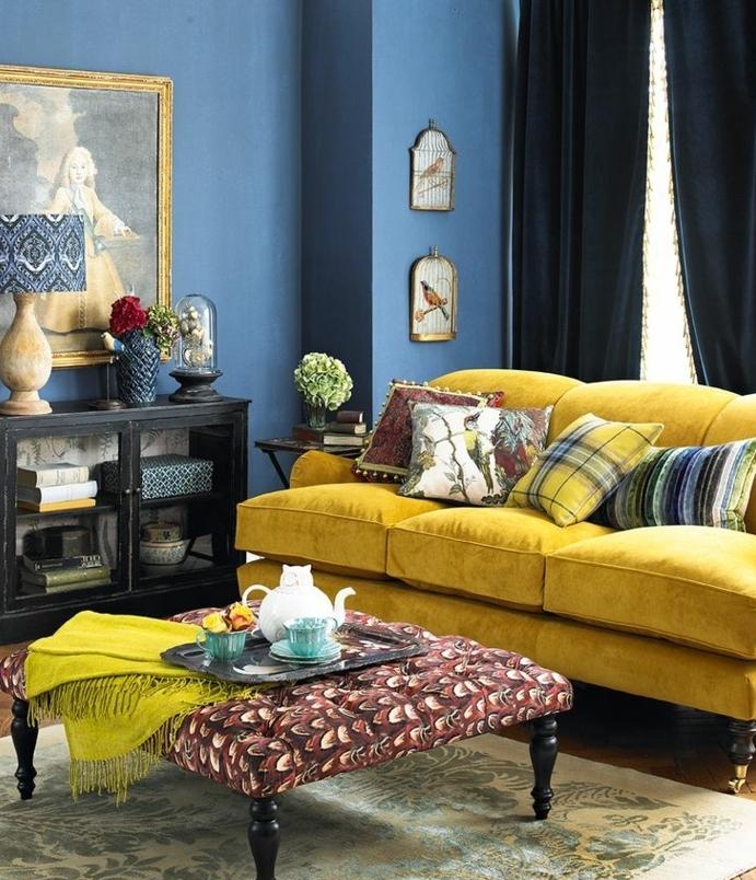 1001 id233es cr233er une d233co en bleu et jaune conviviale