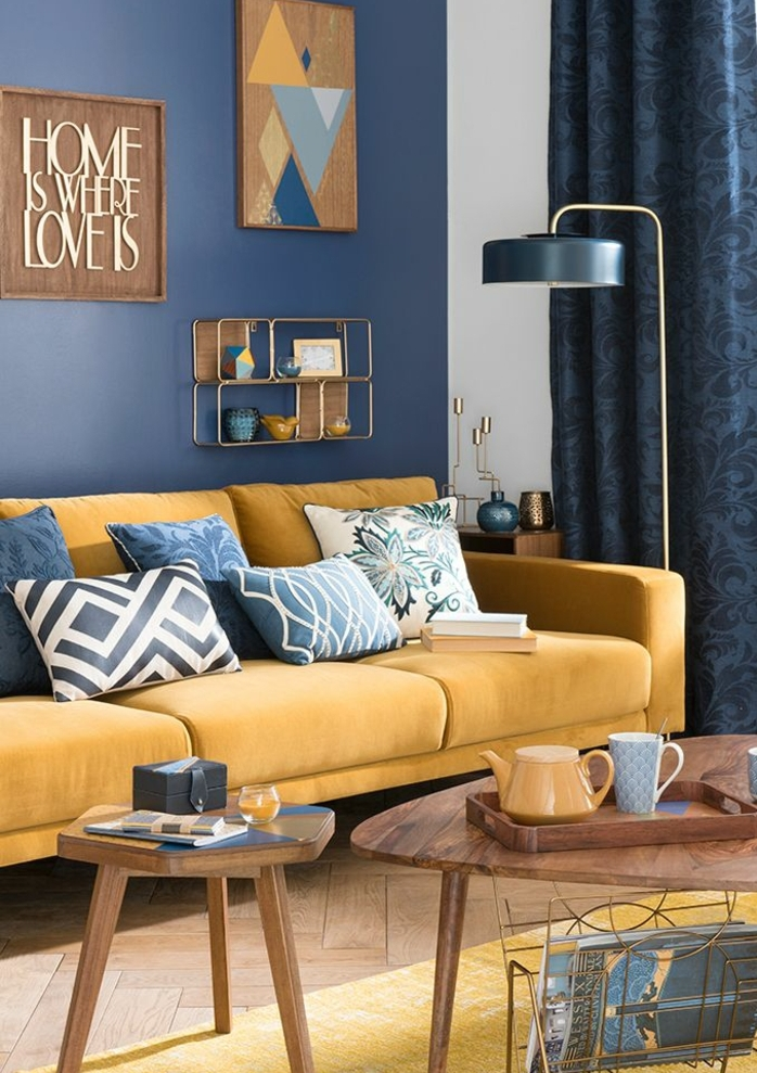 Decoration Scandinave Jaune Bleu