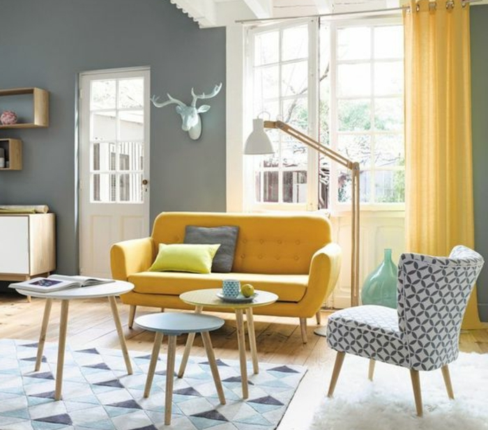 best decoration salon bleu jaune pictures design trends