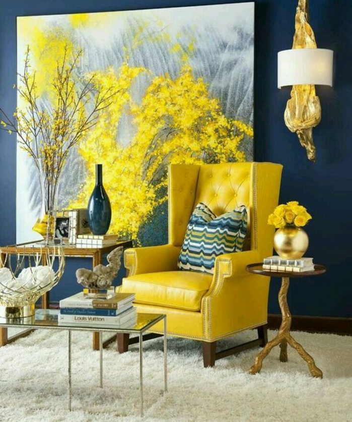 beautiful decoration salon bleu marine photos design