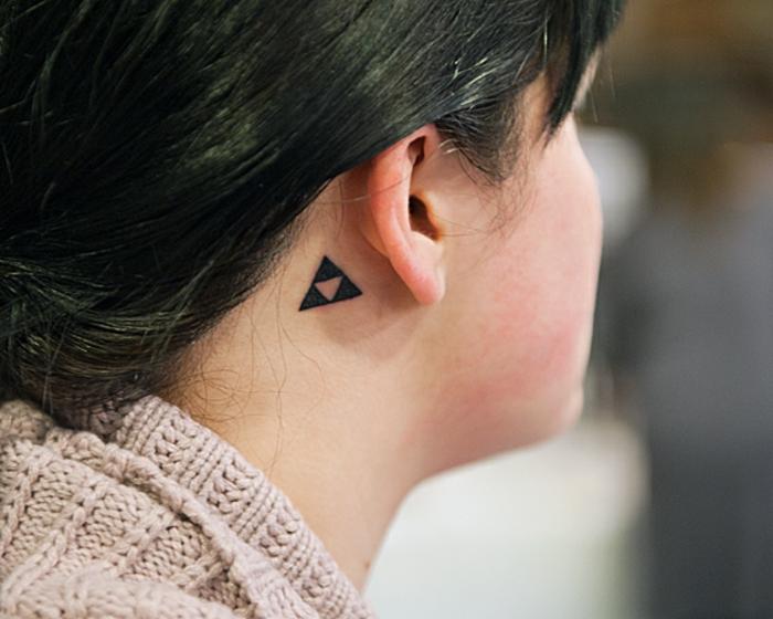 55 Des Meilleures Idees Tatouage Oreille Et Sa Signification