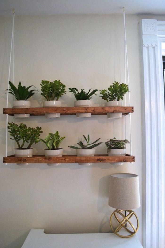 étagère suspendu pour pots de fleurs et bacs à plantes