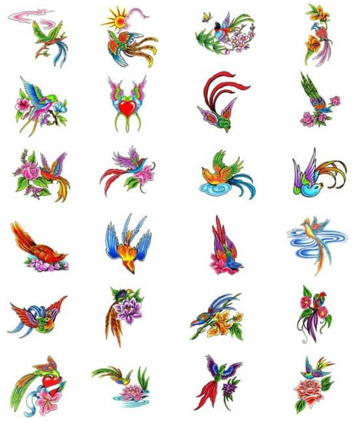 Tatouage plume oiseau qui s envole pour femme et homme oiseau de paradis coloré