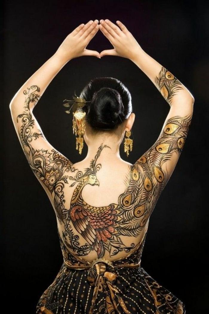 Magnifique tatouages oiseaux tatouage oiseau dos