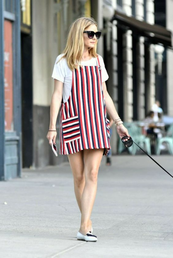 ef7cfedd13b Comment s habiller demain robe campagne chic Olivia Palermo robe salopette  Tenue ...