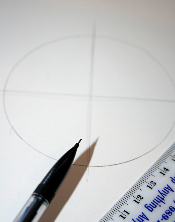 tutoriel pour faire un dessin mandala, faire un cercle et ligne horizontale et verticale, activité manuelle adulte créative