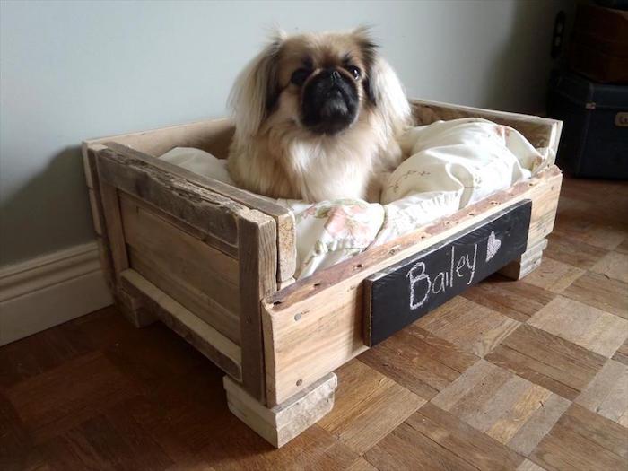 idée niche pour chien en palette diy simple petits chiens