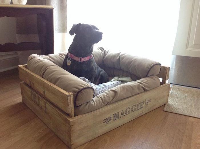 fabriquer un lit pour chien. Black Bedroom Furniture Sets. Home Design Ideas