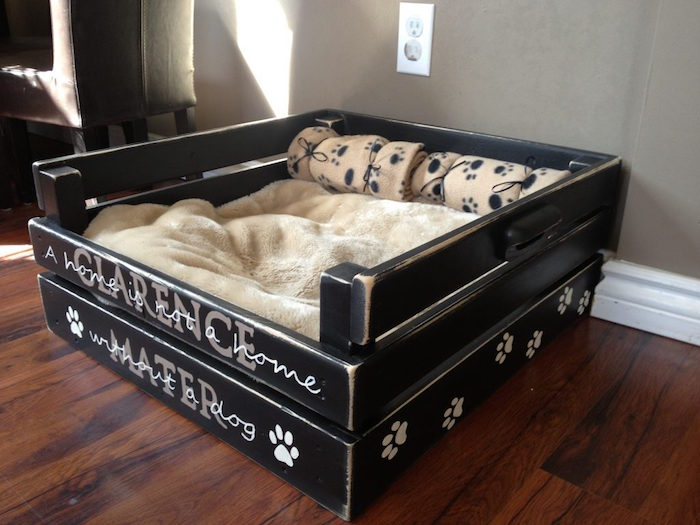 fabriquer un lit pour chien. Black Bedroom Furniture Sets. Home Design Ideas