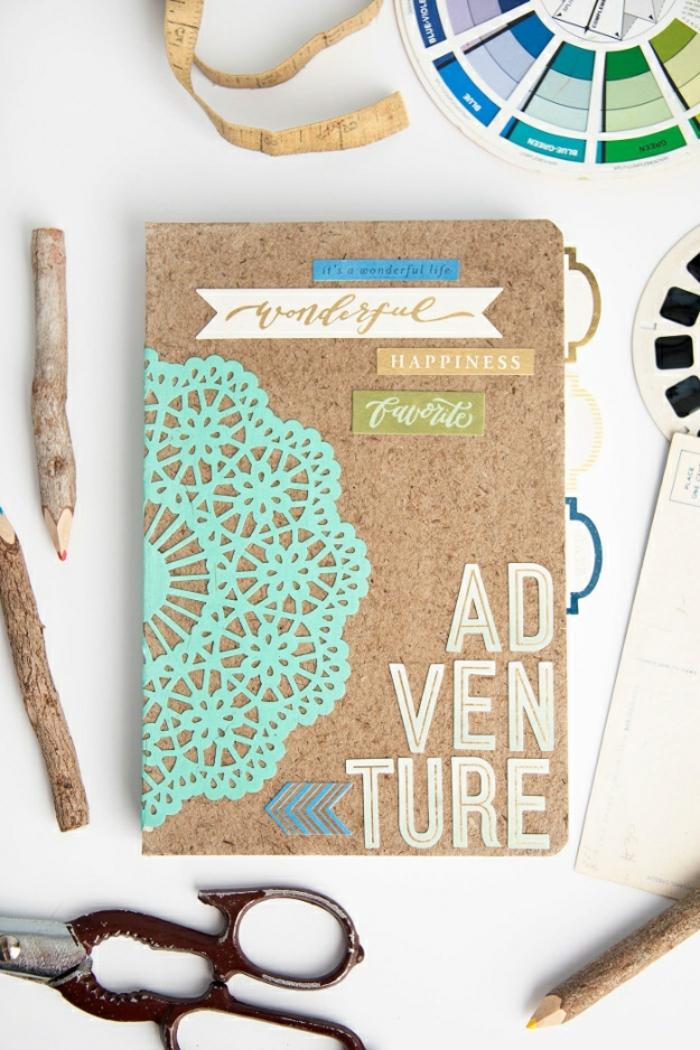 idée comment faire un carnet de voyage, diy, technique scrapbooking, activité créative pour garder ses souvenirs