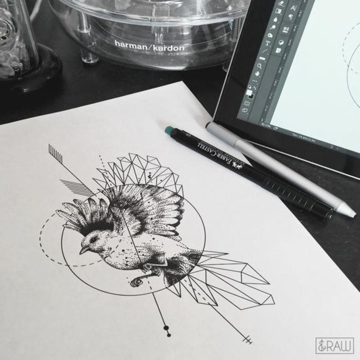 Cool tatouage oiseaux tatouage bras pour femme ou homme