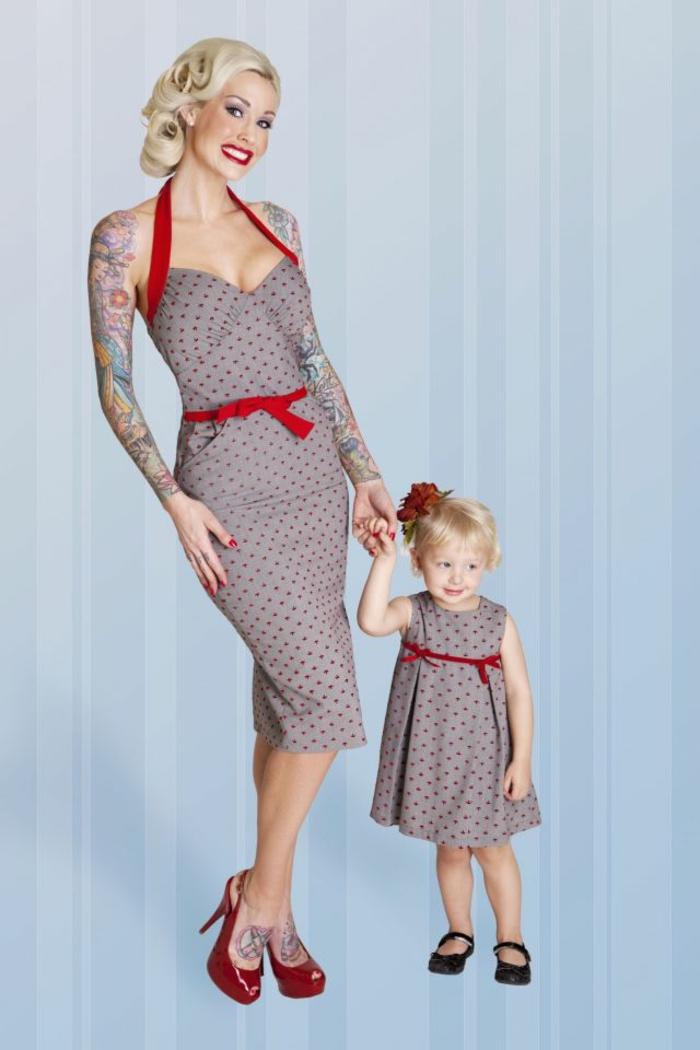 Magnifique robe pin up année 50 idée quelle robe rockabilly maman et enfant