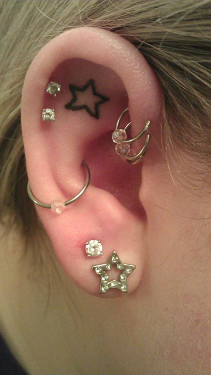 Meilleur endroit pour tatouage petit tattoo sur oreille