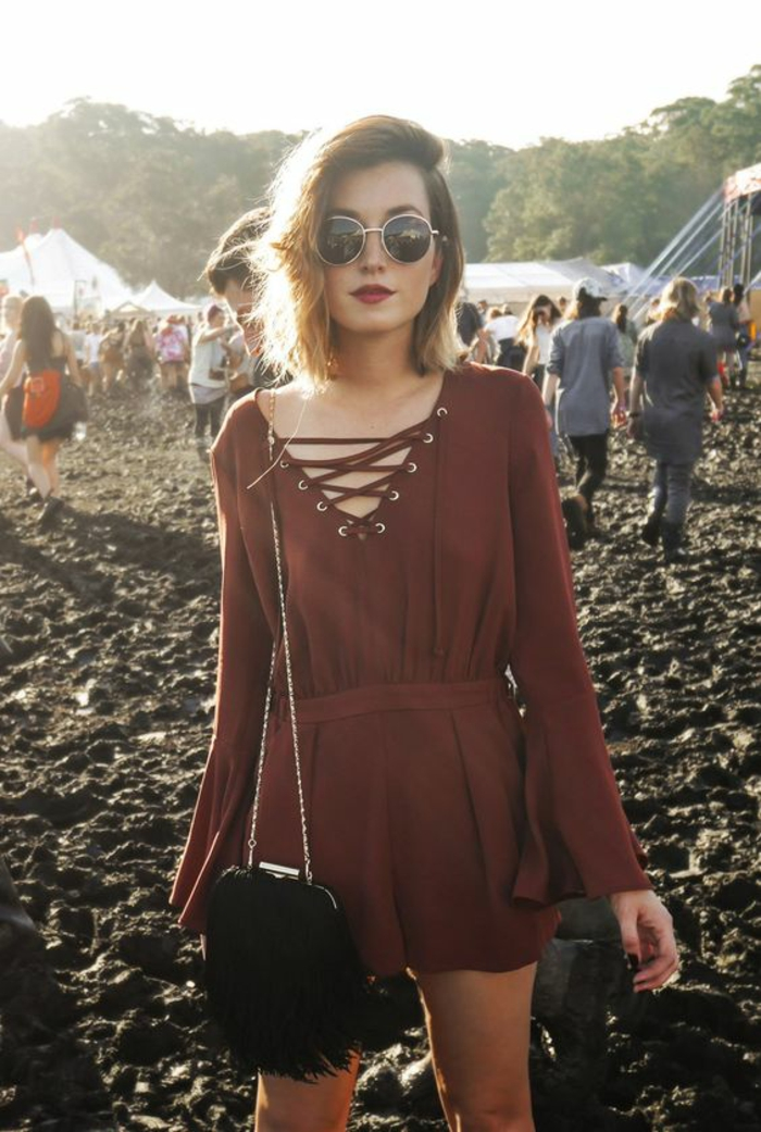 Fille grunge vetement grunge outfit of the day robe jolie comment s habiller pour musique festival