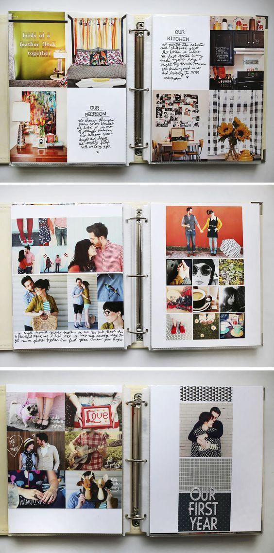 idée comment faire un album scarbook , patchwork de photos et texte explicatif, activité manuelle adulte, idée de génie bricolage