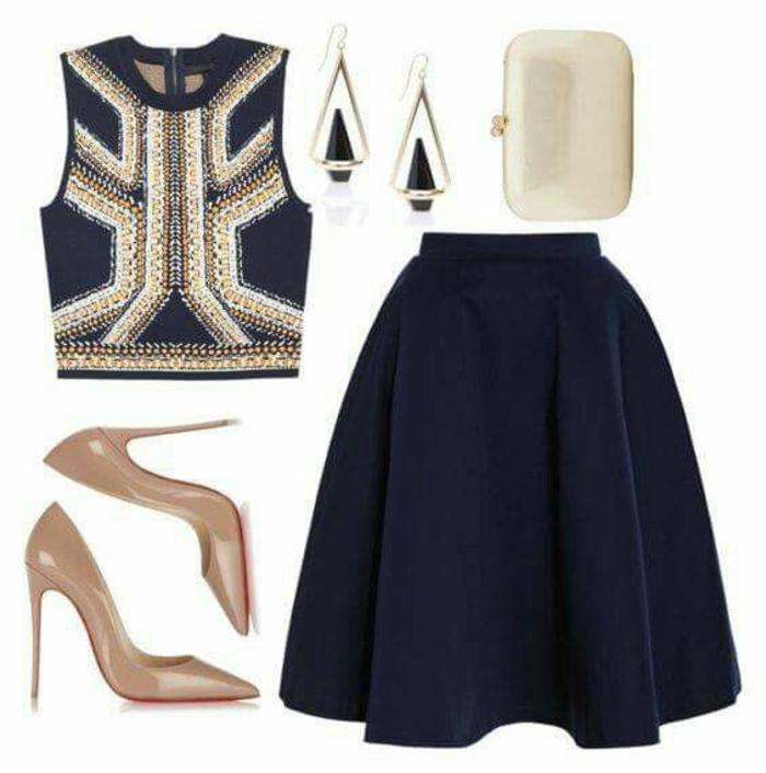 Admirable tenue classe femme tenue pour les fetes jupe noire