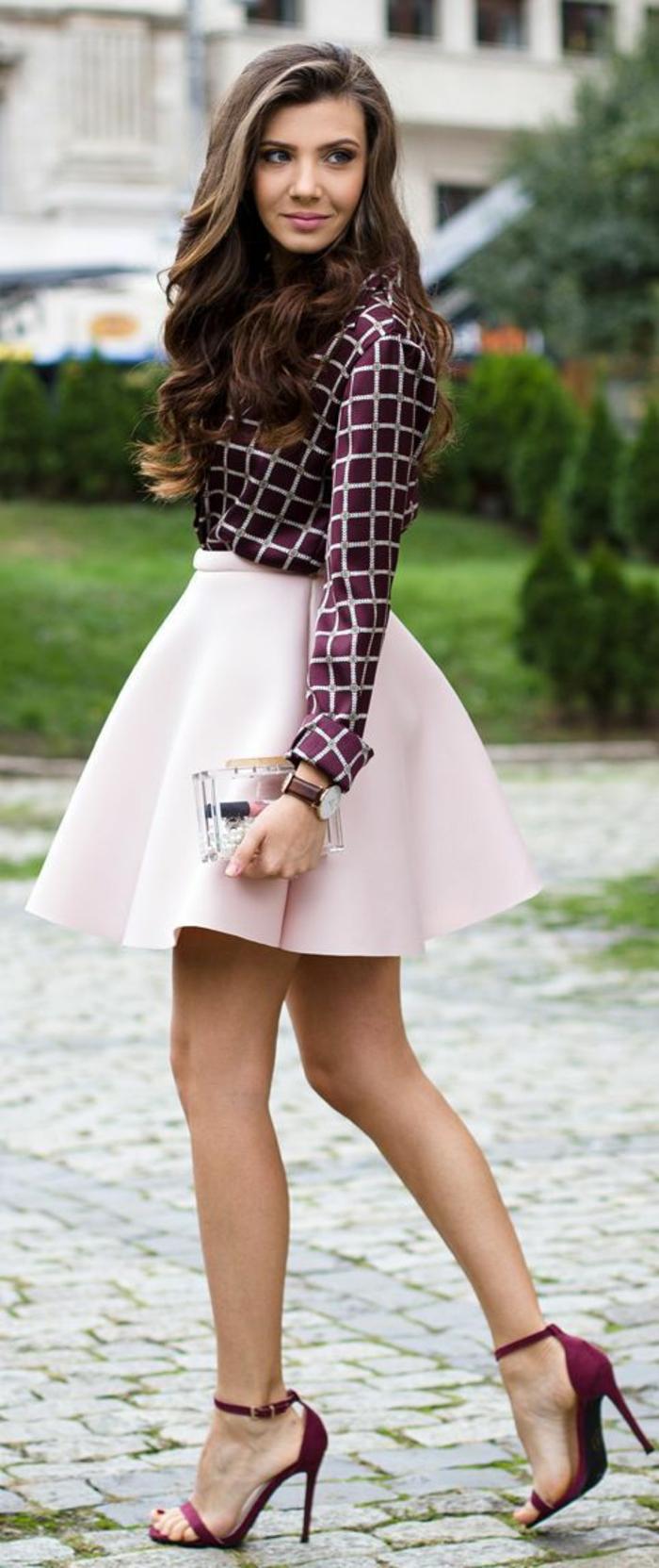 Formidable tenue ceremonie femme pantalon idée cool rose jupe