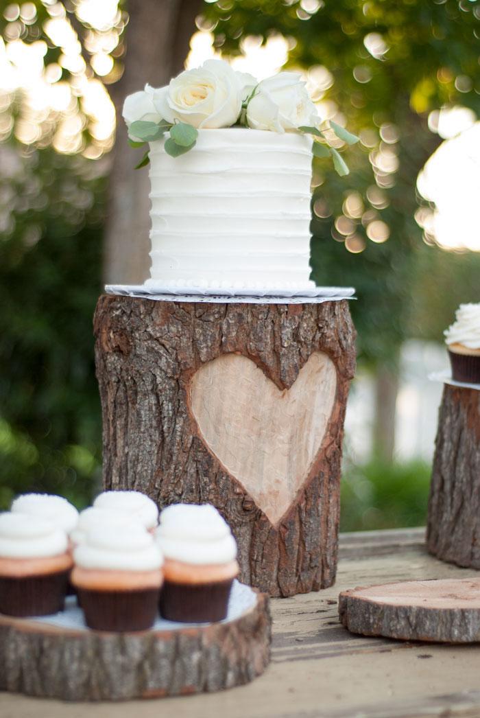 rondin de bois centre de table deco mariage