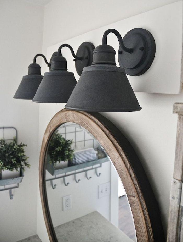 éclairage design vintage salle de bains salles d eau idée rénover refaire déco