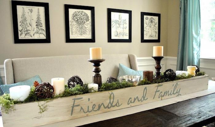 jardiniere d interieur en bois type décoration de table caisse en bois deco