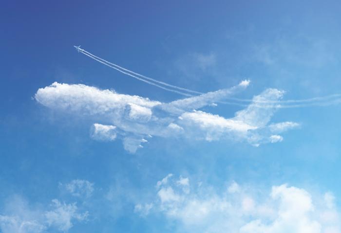 truc cool a faire quand on s ennuie, nuage de pluie, avion dans le ciel, type de nuage, ciel bleu, les différents nuages