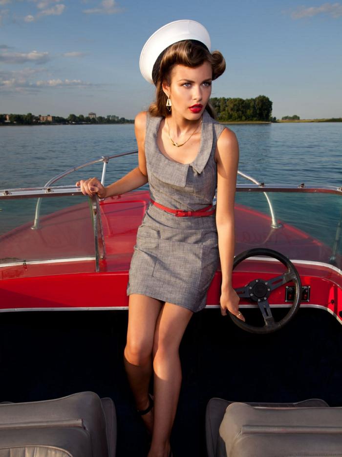 Quelle tenue guinguette femme robe pin up mariage sur bateau