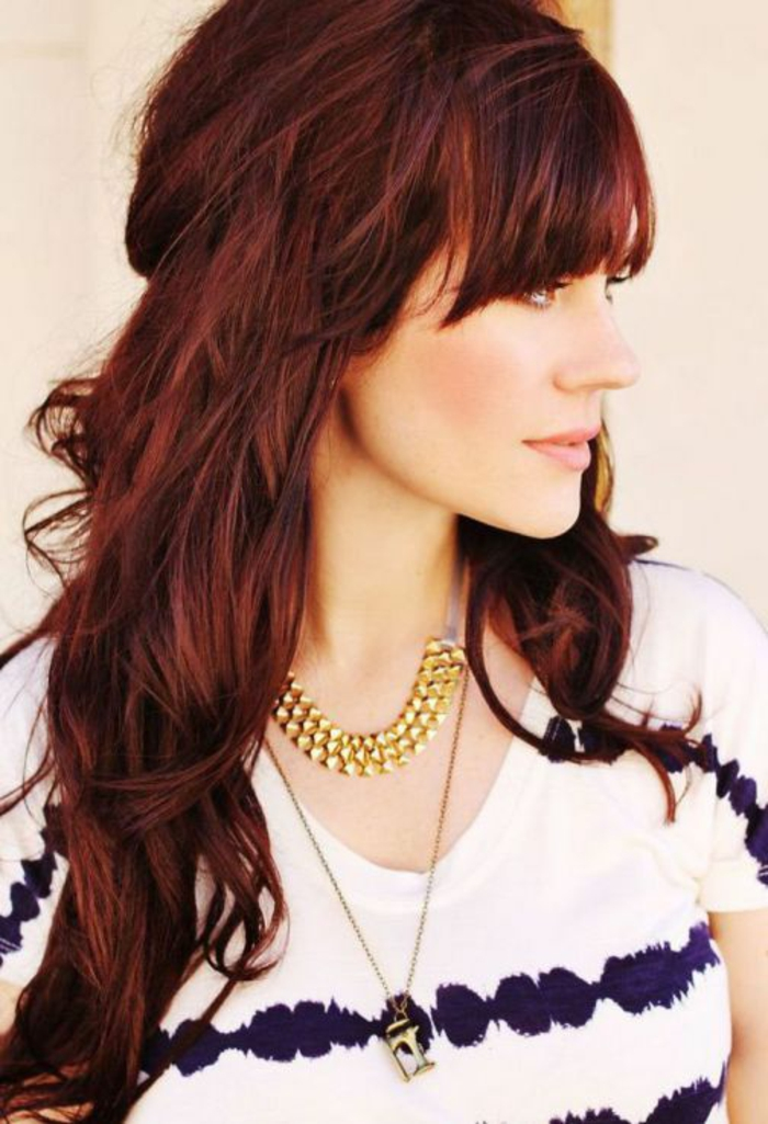 Faire couleur rouge cheveux