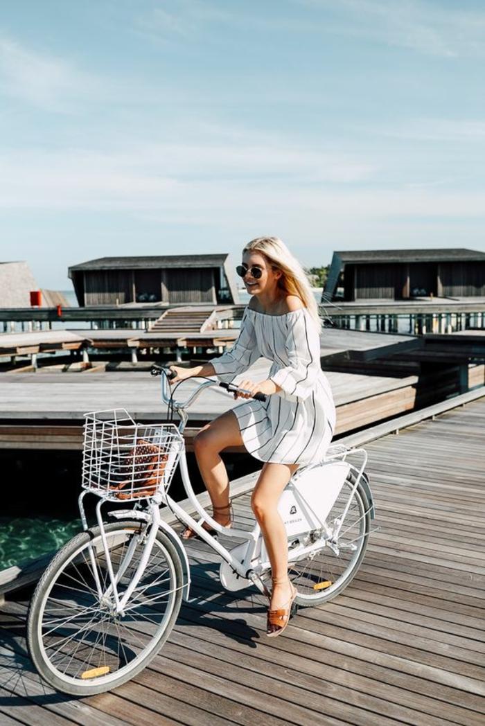 Look bohème hiver cool idée comment s habiller bicyclette Bali island