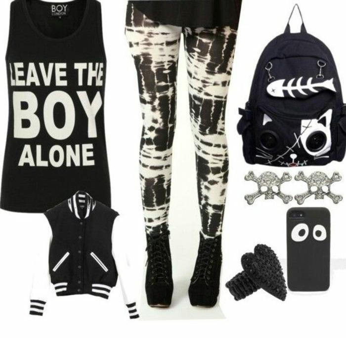 Deguisement rockeur tenue rock n roll femme idée tenue de jour