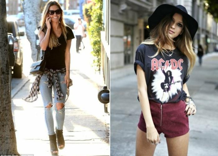 Style glamrock look rock bohème style vestimentaire rock idée tenue de jour