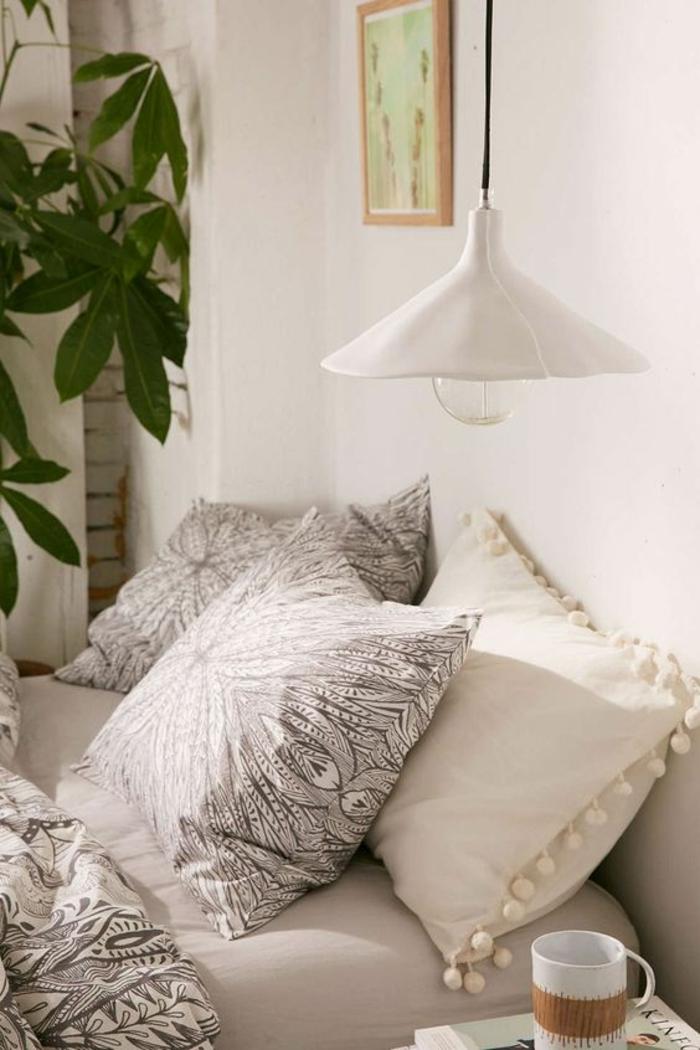 1001 id es pour une lampe de chevet suspendue dans la - Plante verte chambre a coucher ...