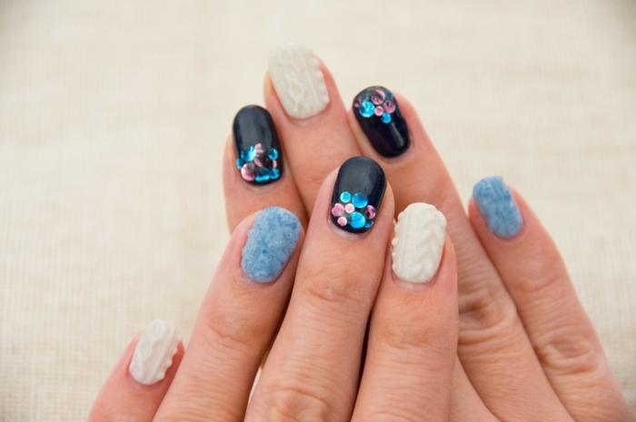 comment faire une manucure, décoration nails, effet 3d manucure, comment avoir de beaux ongles