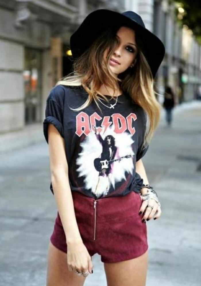 Look rock femme style rock chic tenue de jour rock tenue de jour