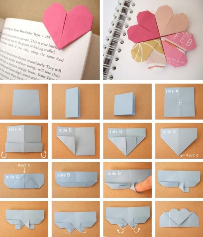 1001 id es originales comment faire des origami facile - Comment faire un marque page ...